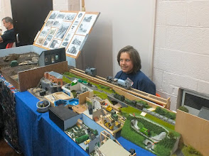 Photo: 010 Youngest exhibitor of the day and without doubt the most prolific modeller, Toby Hollins came along with father Peter, with no less than 11 dioramas and micro layouts in several different scales that he has made himself. He appeared in Railway Modeller during 2015 and without doubt we are all going to hear much more about this very talented young man's modelling exploits in the future .