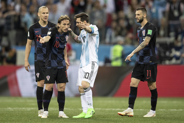 Lionel Messi of Argentina reacts during the 2018 FIFA World Cup Russia group D match between Argentina and Croatia at Nizhny Novgorod Stadium on June 21, 2018 in Nizhny Novgorod, Russia.
