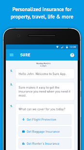 Sure - Buy, Manage, and Quote Your Insurance - náhled