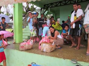 Photo: Recipients of the relief goods