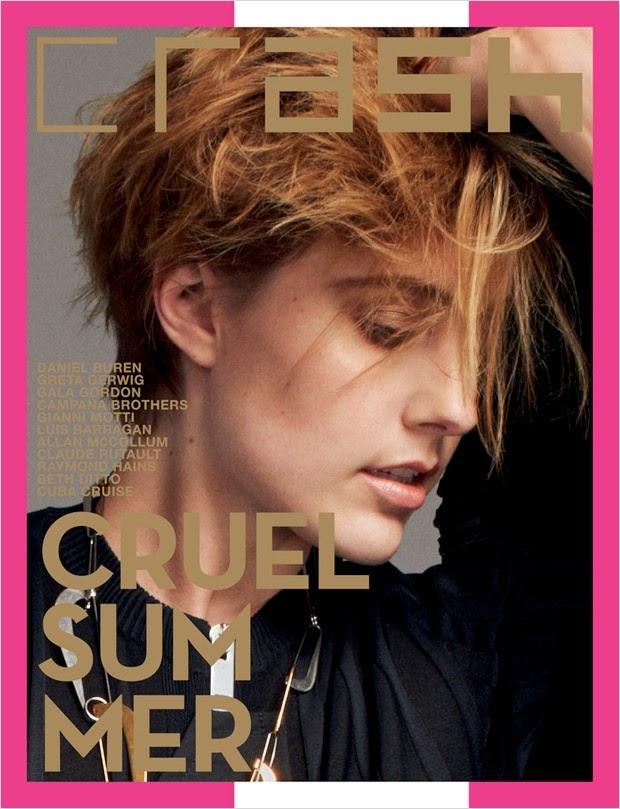 Грета Гервиг в фотосессии Crash Magazine обложка