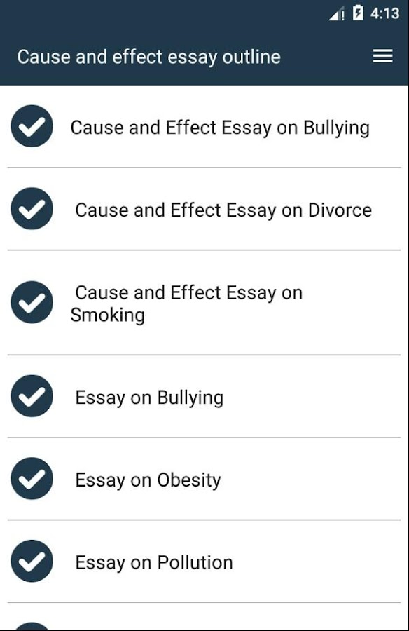 cause and effect essay outline android apps on google play cause and effect essay outline screenshot