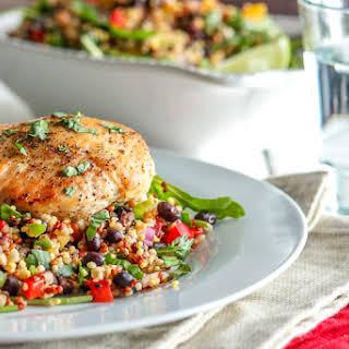Super Healthy Black Bean and Quinoa Salad.