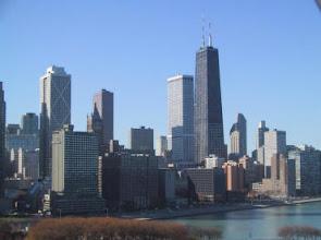 Photo: La Ciudad de Chicago Ill. USA. Al frente el lago Michigan.
