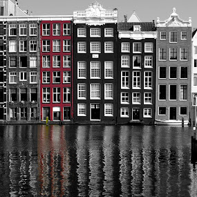amsterdam red by Tyler Sleap - Landscapes Travel ( red, holland, white, amsterdam, black, netherlands, pwcredscapes )