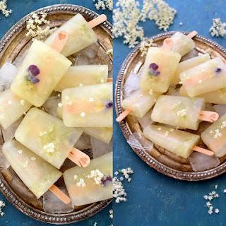 Elderflower Popsicles {with Edible Flowers}.