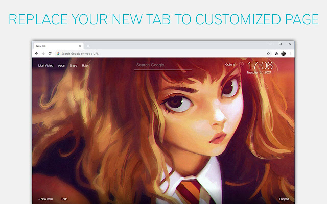 Harry Potter Anime Wallpaper HD Custom NewTab