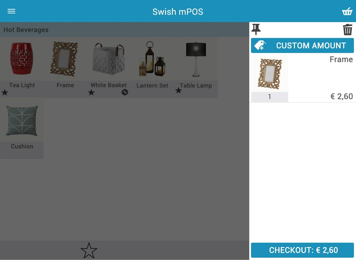 Swish mPOS- screenshot