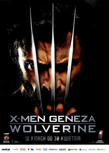 Przód ulotki filmu 'X-Men Geneza: Wolverine'