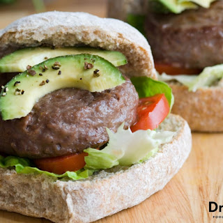Avocado Bison Burgers.