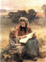 """Photo: Léon Augustin Lhermitte, """"La lezione di lettura"""""""