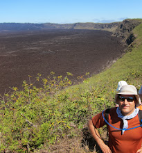 Photo: The lava at the bottom of the caldera is from a 2005 eruption