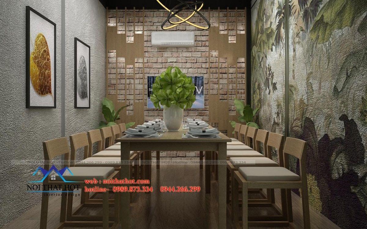 mẫu trang trí thiết kế nhà hàng đẹp