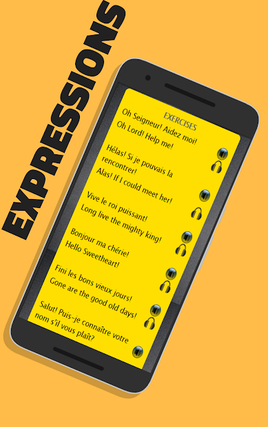 French to English Speaking - Apprendre l' Anglais Android App Screenshot