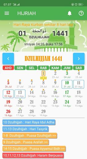 KALENDER HIJRIAH - Puasa Sunnah, Jadwal Shalat 1.2.5 screenshots 1