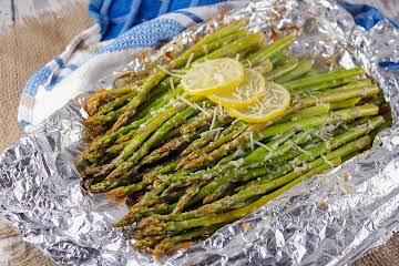 BBQ Asparagus With Parmesan and Lemon Zest