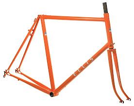 "Photo: Jim's finished frame, an orange ""Domestique"" paint job."