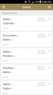 Football Schedule for Saints, Live Scores & Stats - náhled