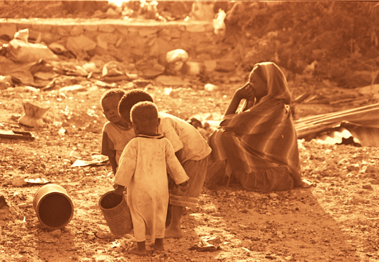 A mother and her children in a refugee camp in Somalia. Picture: JULIAN RADEMEYER