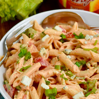 Buffalo Ranch Pasta Salad.