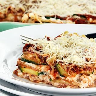 Meatless Zucchini Lasagna.