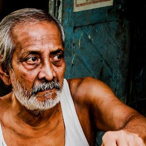 by Sayan Basu - People Portraits of Men ( old people )