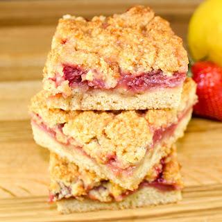 Strawberry Jam Crumb Bars.