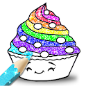 Cupcakes Coloring Book Glitter icon