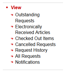 Various Interlibrary Loan options are shown.