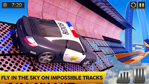 Ramp Police Car Stunts - New Car Racing Games screenshot 2