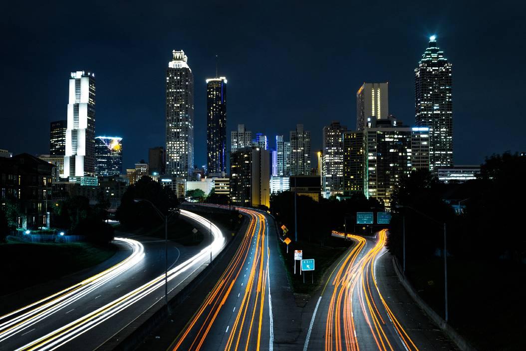 fotografía nocturna ciudad