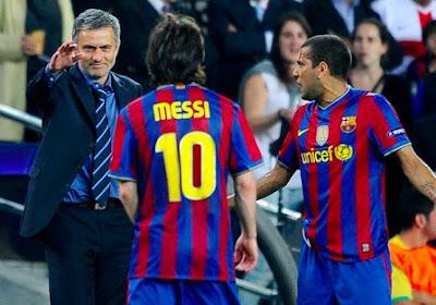 """Mourinho fait l'éloge de Messi: """"Le Dieu du football a fait la différence"""""""