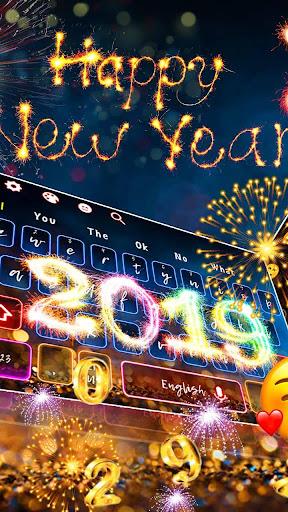 2019 Happy New Year Keyboard Theme 10001003 screenshots 2