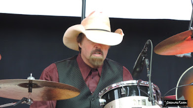 Photo: Lucinda Williams' drummer - another character shot.