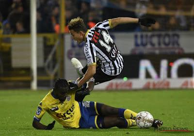 Een foutje van Victorien Angban (Waasland-Beveren) lag aan de basis van tweede tegengoal tegen Charleroi