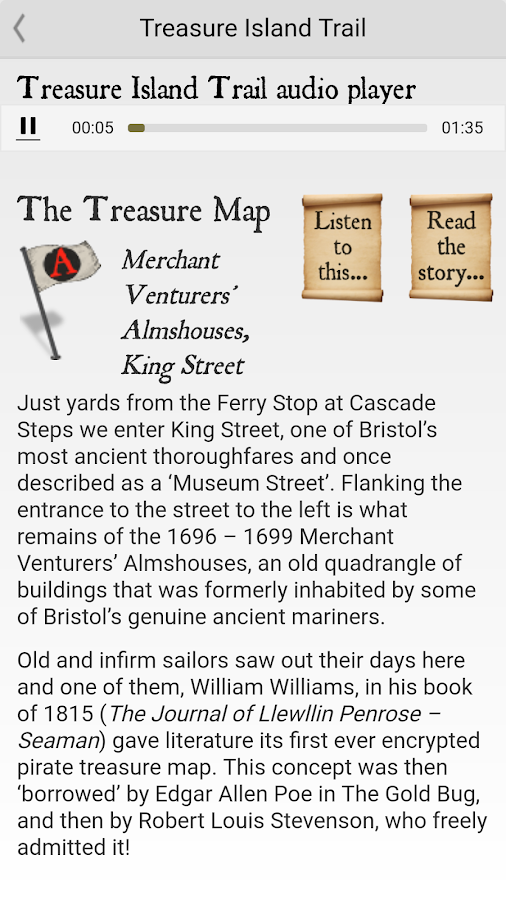 Bristol Treasure Island Trail- screenshot