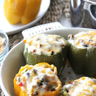 Cheesy Mexican Stuffed Peppers.