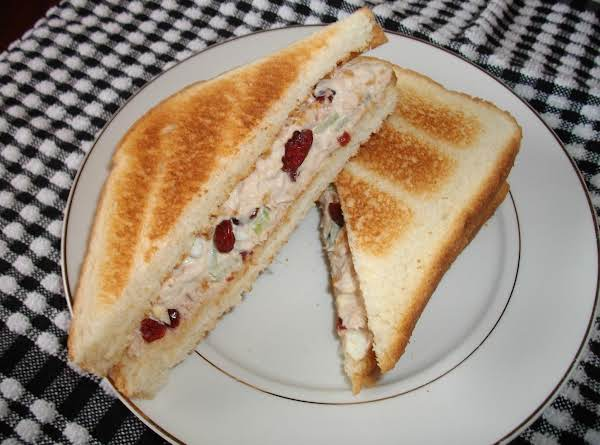 I So Enjoy This Tuna Sandwich With The Dried Sweetened Cranberries Added. This Definitely Is No Ordinary Tuna Sandwich. It's Just Plain Good!