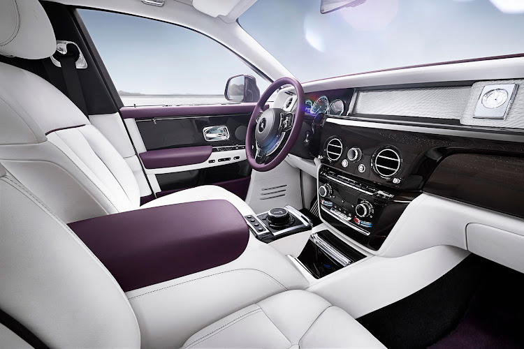 The eighth-generation Rolls-Royce Phantom features The Gallery, a dashboard-wide panel that can include your own commissioned artwork