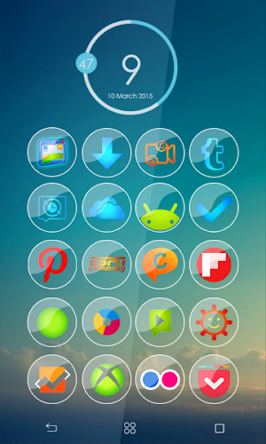 blue glass icon pack apk