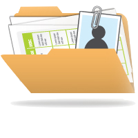 Image of a student record in a folder with a paper clip and picture of student