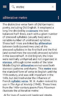 Oxford Literary Terms Screenshot