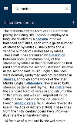 Oxford Literary Terms - screenshot