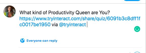 Tweet about quiz