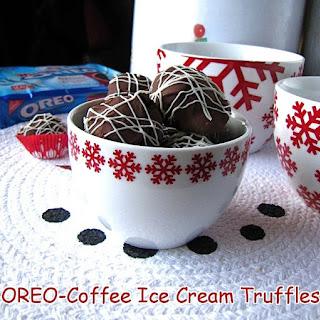 OREO-Coffee Ice Cream Truffles {Play Up Dessert with OREO} Recipe
