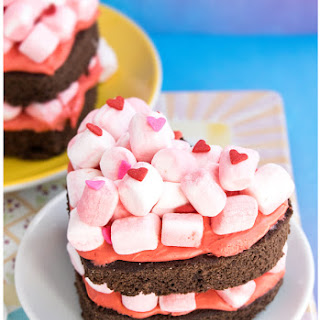 Mini Heart Shaped Chocolate Marshmallow Cake