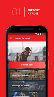 Music For Relief: Donation App- screenshot thumbnail