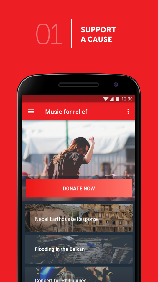 Music For Relief: Donation App- screenshot