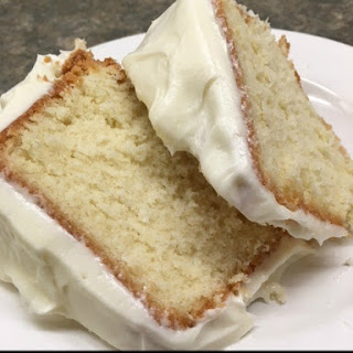 Pound Cake with a Cream Cheese Frosting.