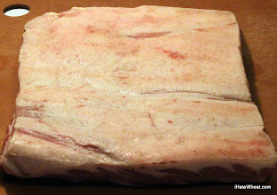 Photo: ~4lbs raw pork belly from Babes in the Woods (forestfed.com)